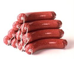 clipped-looped-fresh-sausage